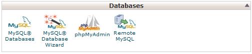 MySQL Databases در سی پنل